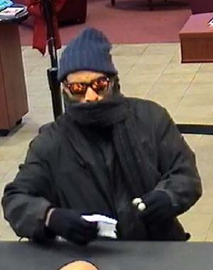 Arlington, Virginia Bank Robbery Suspect, Photo 1 of 2 (12/11/12)