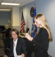 JOC Supervisor SSA Kristy Kottis and OPA Representative Adrienne Senatore
