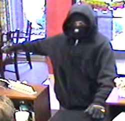 Suspect in Huntsville Bank Robbery, Photo 1 of 2 (10/21/10)