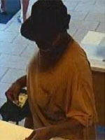 San Diego Bank Robbery Suspect, Photo 3 of 4 (8/29/13)