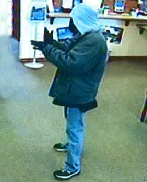 Edmond, Oklahoma Bank Robbery Suspect, Photo 1 of 4 (3/4/14)