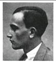 Figure 1: Early 20th-century black-and-white photo (head profile) of a young man with both African-American and Caucasian ancestry.