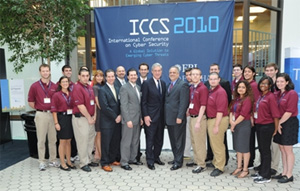 Student Ambassadors from Fordham University with FBI Director Robert S. Mueller, III (center left) and FBI New York Acting Assistant Director in Charge George Venizelos (center right)