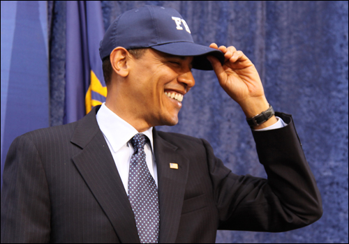 On April 28, President Barack Obama visited FBI Headquarters.