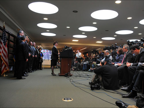 New York Assistant Director in Charge Janice K. Fedarcyk at Press Conference