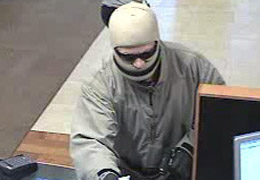 Oceanside, California Bank Robbery Suspect, Photo 2 of 3 (12/8/10)