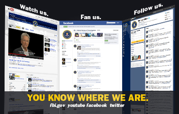 You know where we are. Watch us, Fan us and Follow us
