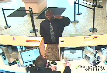 Edgewater Bank Robbery Suspect, Photo 3 of 4 (11/4/10)