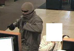 Oceanside, California Bank Robbery Suspect, Photo 3 of 3 (12/8/10)