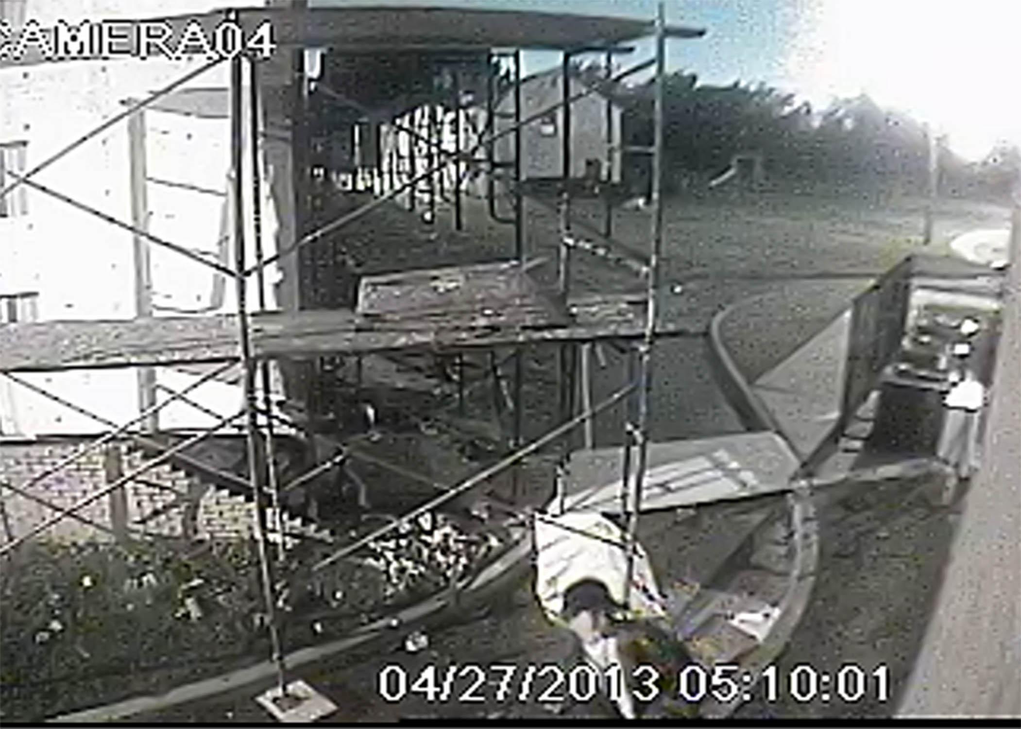 Oklahoma City Mosque Vandalism, Photo 1 of 4 (4/29/13)