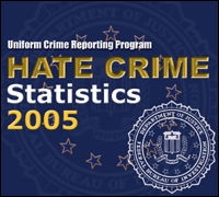 UCR Hate Crime Stats 2005 cover