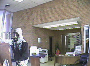 Pigeon Forge, Tennessee Bank Robbery Suspect, Photo 1 of 5 (12/14/10)
