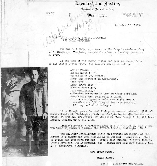 Identification Order No.1 William Bishop