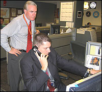TSC watch commander Michael Ross and an analyst at the Terrorist Screening Center.