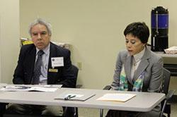 Consul Alicia Kerber and Vice Consul Roberto Caldera