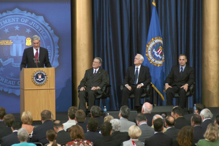 Director Mueller and Former FBI Directors William H. Webster, William S. Sessions, and Louis Freeh at the FBI's Centennial Celebration in July 2008