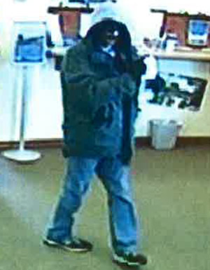 Edmond, Oklahoma Bank Robbery Suspect, Photo 3 of 4 (3/4/14)