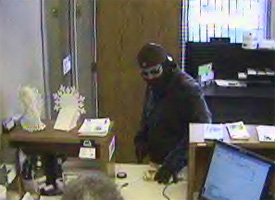 Monticello, Indiana Bank Robbery Suspect, Photo 3 of 5 (12/23/10)