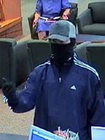 Norfolk Region Bank Robbery Suspect, Photo 2 of 3 (1/7/14)