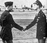 A historic handshake between two military men