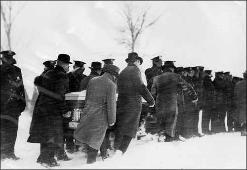 Burial of Slain Special Agent Herman Hollis in Des Moines, Iowa in 1934
