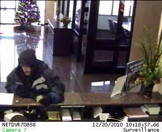 Oklahoma City Bank Robbery Suspect, Photo 1 of 2 (12/20/10)