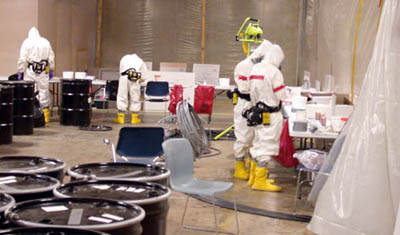 Amerithrax Investigation: HAZMAT workers from FBI and EPA testing letters