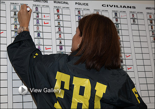 A special agent tracks progress of operation