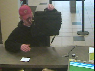 Knoxville Bank Robbery Suspect, Photo 1 of 2 (12/29/10)