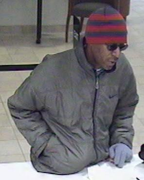 Denver Unknown Bank Robbery Suspect, Photo 2 of 3 (12/1/10)
