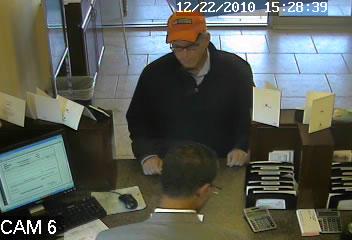 Edmond, Oklahoma Bank Robbery Suspect, Photo 3 of 4 (12/22/10)