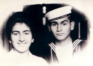 Figure 2. Original Black-and-White Photograph of Gerardo Olivares and his Sister