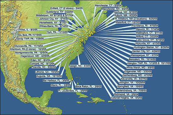 Map of Burglaries