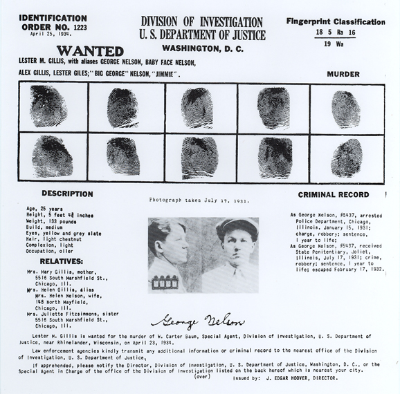 Identification Order No.1223 Baby Face Nelson