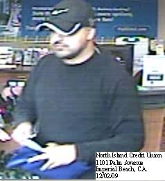 Imperial Beach, California Bank Robbery Suspect, Photo 2 of 5 (12/2/09)