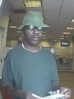Pembroke Pines, Florida Bank Robbery Suspect, Photo 2 of 3 (8/28/13)