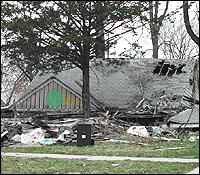 Detroit damaged house