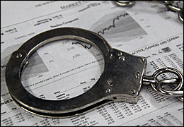 Handcuffs on stock charts