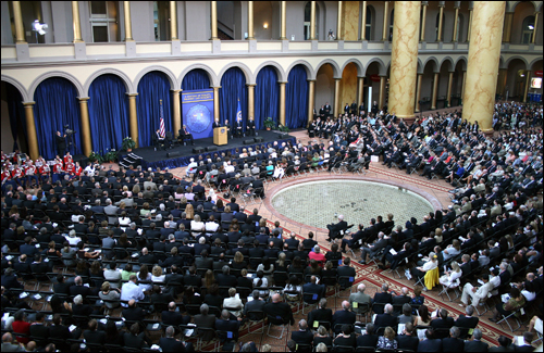 More than 2,000 people attended the centennial celebration at the National Building Museum