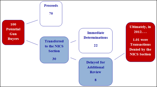 NICS Operations Report 2012: Process for Hundred Checks