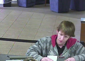Knoxville Bank Robbery Suspect, Photo 2 of 4 (1/11/10)