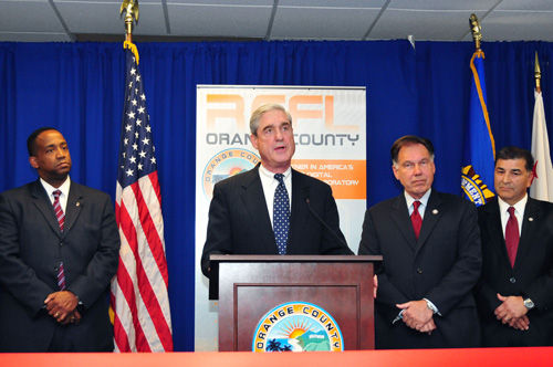 Director Mueller Speaks at Ribbon-Cutting for New Orange County Regional Computer Forensics Laboratory in January 2011