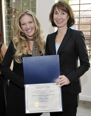 Stephanie Douglas, special agent in charge of the San Francisco office of the Federal Bureau of Investigation presented the 2009 Director's Community Leadership Award to Old Skool Café