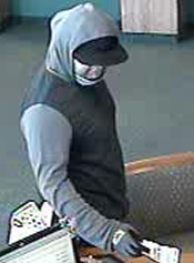 San Diego Bank Robbery Suspect, Photo 1 of 3 (1/14/13)