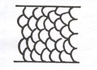 Figure 106 is a diagram of a scale pattern of deer hair.