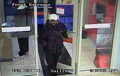 """PJ Bandit"" Serial Bank Robber Suspect (12/16/09)"