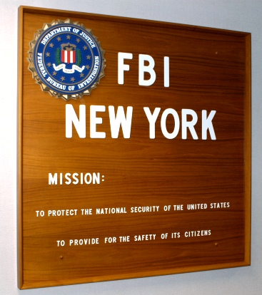 FBI NYO Sign