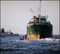 Golden Venture cargo ship runs aground (AP Photo)