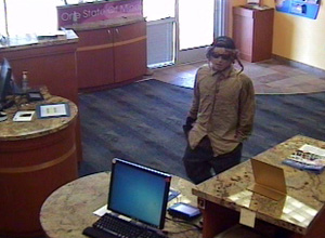 Glendale, Arizona Bank Robbery Suspect, Photo 3 of 5 (9/7/12)