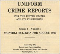 Cover of the FBI's first Uniform Crime Report